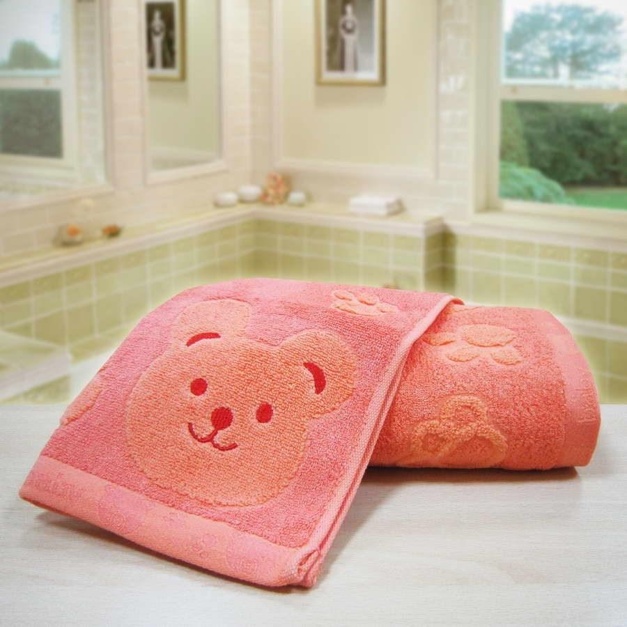 """Махровое полотенце """"Счастливый медведь"""" м0392 бамбук - фото 36064"""