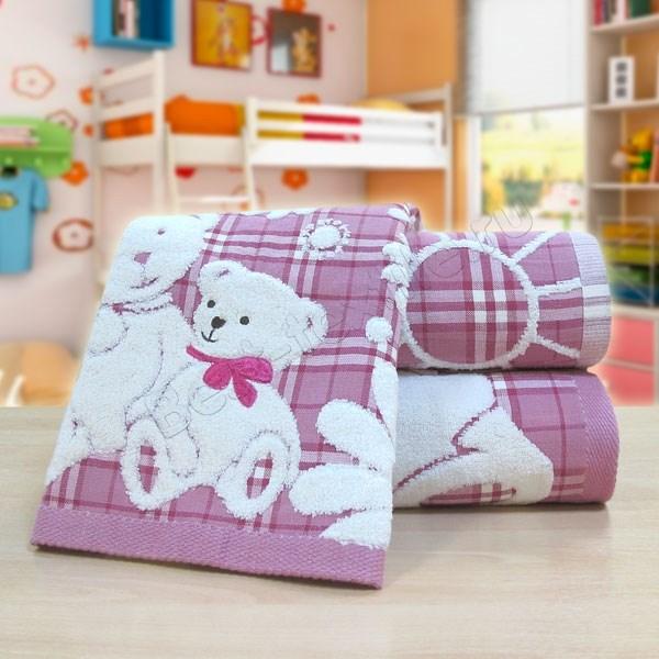 """Махровое полотенце """"Весёлые мишки"""" м0381 хлопок - фото 44559"""