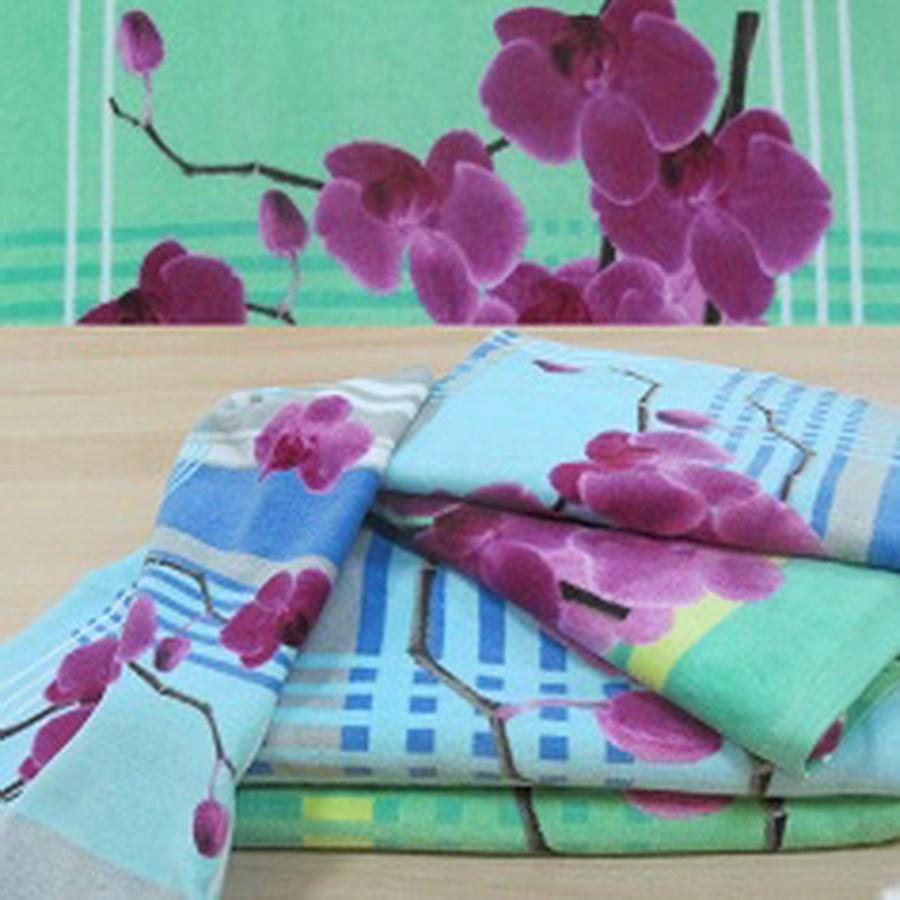 """Махровое полотенце """"Орхидея"""" м1059 хлопок - фото 47518"""