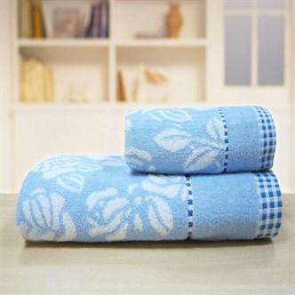 "Махровое полотенце ""Незабудка"" м0247 хлопок"