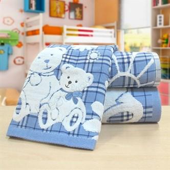 """Махровое полотенце """"Весёлые мишки"""" м0381 хлопок"""