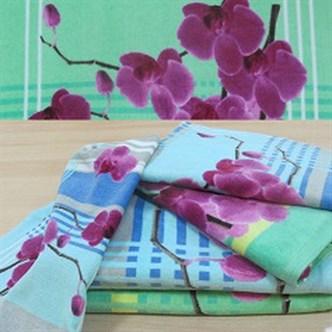 """Махровое полотенце """"Орхидея"""" м1059 хлопок"""