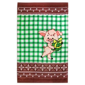 Махровые полот ВТ Кухня Свинка м1121_03 S 30* 50 зелен