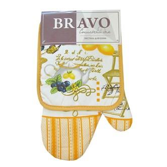 Набор кухонный 2 пр (прихватка+рукавица) Лимон