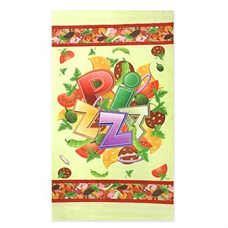 Кухонное полотенце 38*64 из микрофибры Пицца